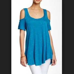 Harlowe & Graham Cold Shoulder Jersey Tee Small